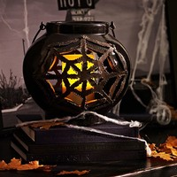Ceramic Spider Web Lantern