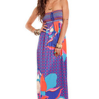 Get Rio Maxi Dress in Blue :: tobi