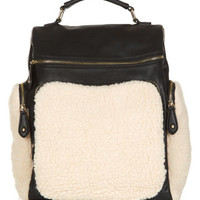 Shearling Slouchy Backpack   Multi   Accessorize
