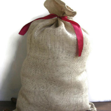 Burlap sack,  Jute bag, jute sack, burlap stocking bag  86x50cm , big sack, large sack, Hemp sack