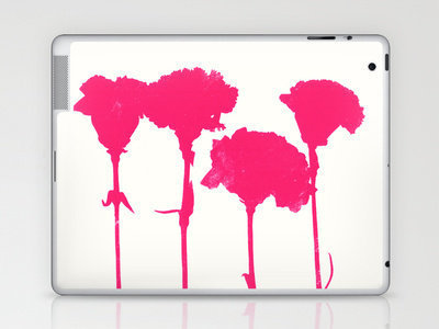 Carnations_Pink Laptop &amp; iPad Skin by Garima Dhawan | Society6