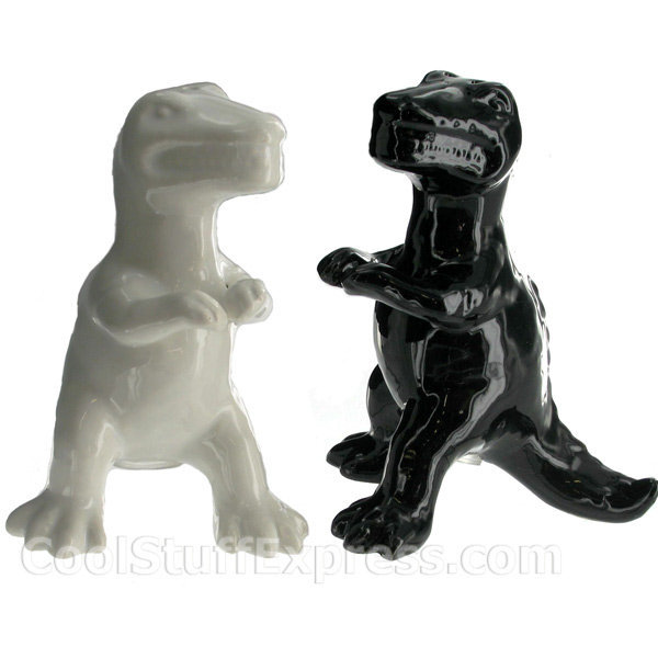Dinosaur Shaped Salt And Pepper Shakers From Cool Stuff