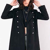 Silence + Noise Military Blackout Duster Coat - Urban Outfitters