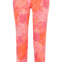 J.Crew - Collection neon floral-jacquard straight-leg pants