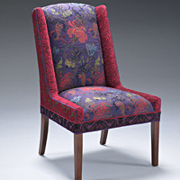 Windham Chair in Melody Plum by Mary Lynn O'Shea (Upholstered Chair) | Artful Home