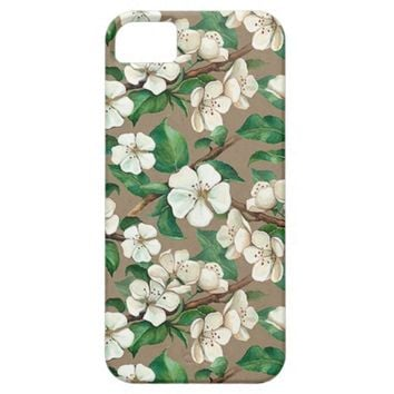 Apple Tree Blossom Flower Pattern iPhone 5 Case