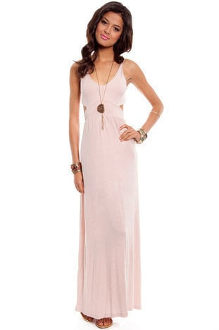Modal Behavior Maxi Dress in Ivory :: tobi