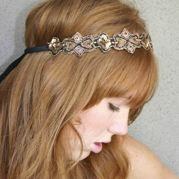 hippie chic Bohemian tie headband for women and teens