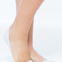 Floral Lace Inset No-Show Socks