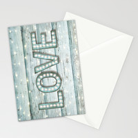 Love is the Light of Your Soul (LOVE lights II) Stationery Cards by soaring anchor designs ⚓ | Society6