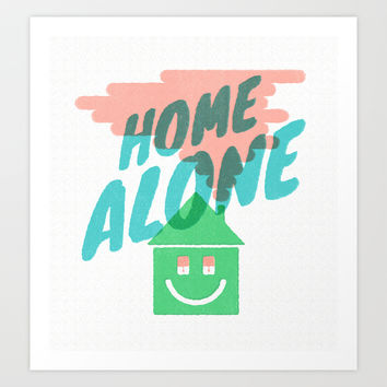 Home Alone Art Print by Nick Nelson   Society6