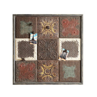 Embossed Wood Wall Plaque with Magnet Clips