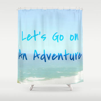 Adventure Shower Curtain by Laura Santeler