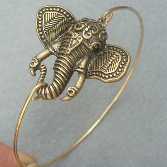 Elephant Bangle Bracelet Style 3