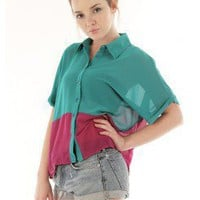 LOOSE COLORBLOCK SHIRT @ KiwiLook fashion