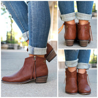 Cowgirl Chic Bootie - Tan