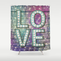 Love is the Light of Your Soul (LOVE lights III) Shower Curtain by soaring anchor designs ⚓ | Society6
