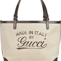 Gucci | Craft canvas and leather tote | NET-A-PORTER.COM