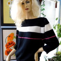 vintage 70s 80s sweater knit queen's way to fashion size Large