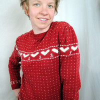Sweet Angora Vintage 80s Heart Sweater