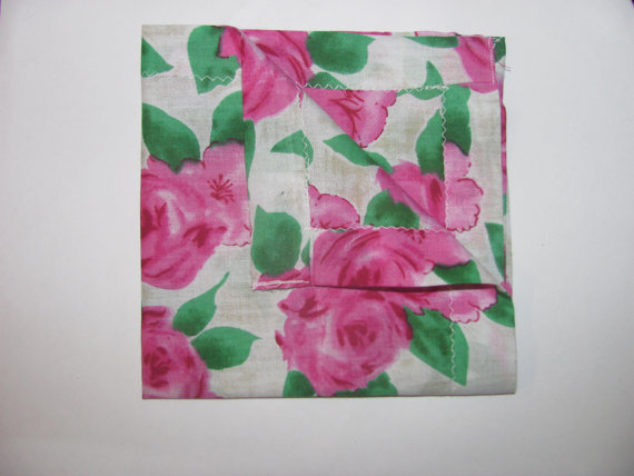 Mens Pocket Square- Flower pattern