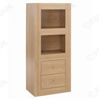 LPD Furniture - LPD Moda Oak 2 Tier Storage Unit