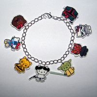Hello Kitty Star Wars Bracelet Yoda,  CP30 R2D2  Princes Leia Boba Fett, Storm Trooper Maul  Jewlery