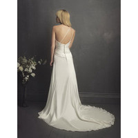 A-line One Shoulder Floor Length Sweep Train Satin Wedding Dress [TWL120202033] - $169.99 : wedding fashion, wedding dress, bridal dresses, wedding shoes
