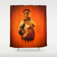 Black Beauty  Shower Curtain by    Amy Anderson