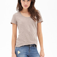 Slub Knit Cotton Tee