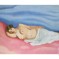 Reclining Female Nude, 1913 Giclee Print by Felix Edouard Vallotton at Art.com