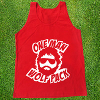 One Man Wolfpack Casual Wear Sporty Cool Tank top Funny Tank Cute Direct to garment