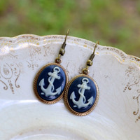 Anchor Earrings - Nautical Earrings