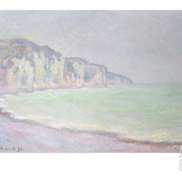 Cliffs at Pourville, 1896 Giclee Print by Claude Monet at Art.com