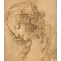Study for the Face of the Virgin Mary of the Annunciation Now in the Louvre Giclee Print by Leonardo da Vinci at Art.com