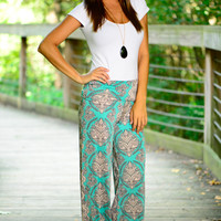 Only Love Palazzo Pants, Mint