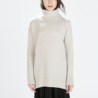 OVERSIZED POLO NECK SWEATER