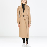 LONG COTTON TRENCHCOAT