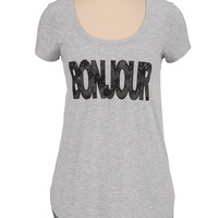 Bonjour short sleeve graphic tee
