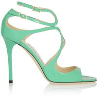 Jimmy Choo Lang patent-leather sandals – 40% at THE OUTNET.COM