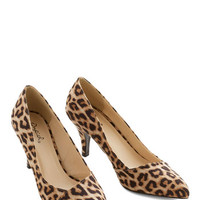 ModCloth Enthrall in a Day's Work Heel in Leopard