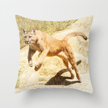 ACTION PUMA Throw Pillow by Catspaws | Society6