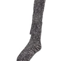 MARLED KNIT OVER-THE-KNEE SOCKS