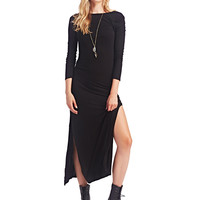 Long-Sleeve Maxi Dress | Wet Seal