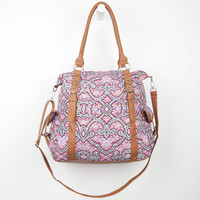 Medallion Print Shoulder Bag Multi One Size For Women 24213395701
