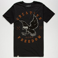 Lira Freedom Mens T-Shirt Heather Black  In Sizes
