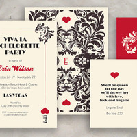 Las Vegas Bachelorette Party Invite - Custom