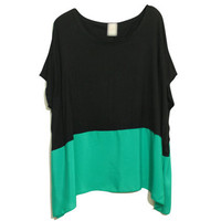 Contrast Color Green T-shirt