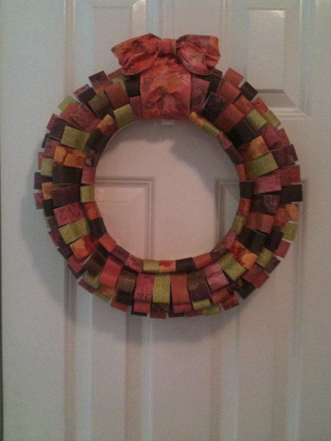 SALE Scrapbook Paper Wreath