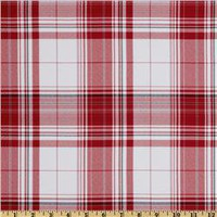 Yarn Dyed Polyester Suiting Plaid Red/White/Black - Discount Designer Fabric -  Fabric.com
